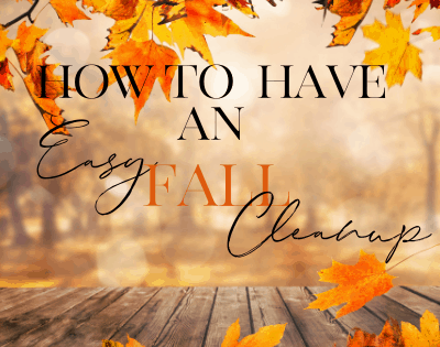 15 Tips For An Easy Fall Clean Up
