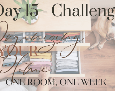 Day 15 – How to Organize Your Home