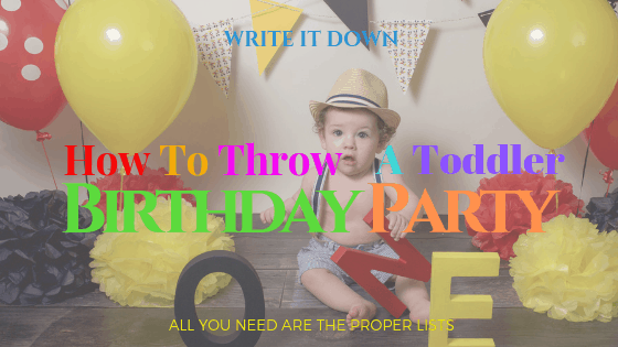 How to Throw a Toddler Birthday Party